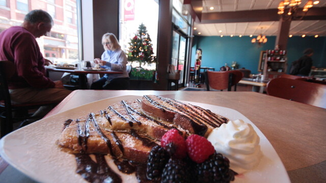 Obsession Chocolates' huge new location at 18 S. Barstow St. made room for a much larger chocolate operation, a full service coffeeshop/café (serving breakfast and lunch), a bakery, and a classroom.