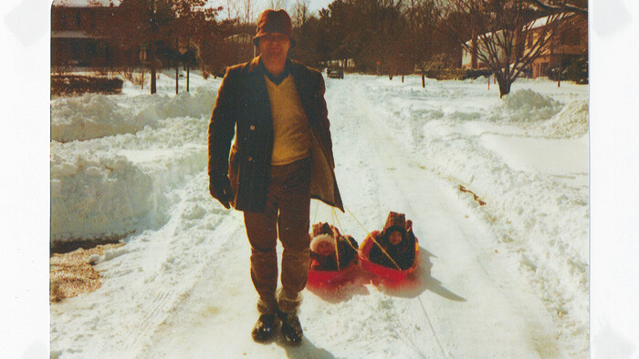 V1 Writer Katie Venit and her twin sister go sledding thanks to Dad.