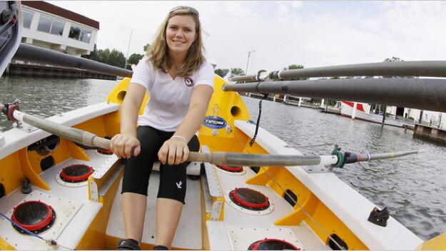 22-year-old ocean rower, Katie Spotz.