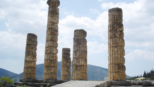 The temple of Apollo at Delphi could use some fixing up.