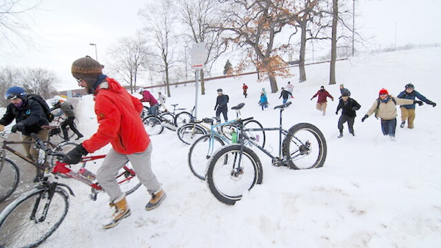 The St. Valentine's Day Hustle is a scavenger hunt bike race on (and around) the frozen Lake Menomin this Feb. 11. It's followed by a bonfire and refreshments at Waterfront Bar & Grill.