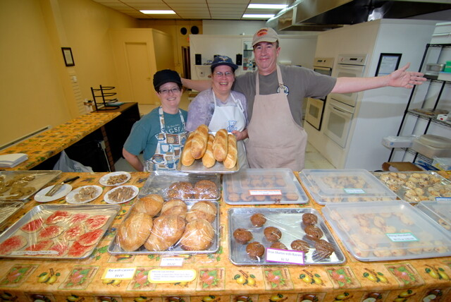 """SHA-ZAM! THROUGH THE AWESOME POWER OF HEAT AND YEAST, WE'VE PRODUCED DELECTABLE GOODIES!"" UW-Stout graduates Rick and Theresa Suydam have opened Vagabond Bakery at 334 Main Street in Menomonie, specializing in breads and scones."