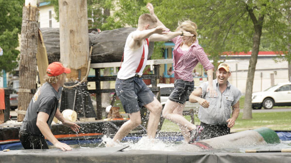 THE LOG DAYS OF SUMMER. On Saturday, May 19 Main Street of Menomonie organized Summer Daze, which is a new festival focusing on the community and embracing its heritage. They had activities for all ages throughout the weekend, including a Lumber Jack competition.