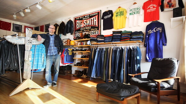 IF YOU'VE BEEN SEARCHING FOR THE REAL McCOY ... THEY'VE GOT ONE. Jon Shemick's Good & Sturdy Vintage shop specializes in men's clothing, artwork and glassware.