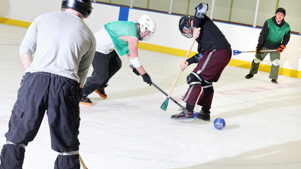 The fierce competition that is broomball takes place on Wednesday nights at Hobbs Ice Arena.