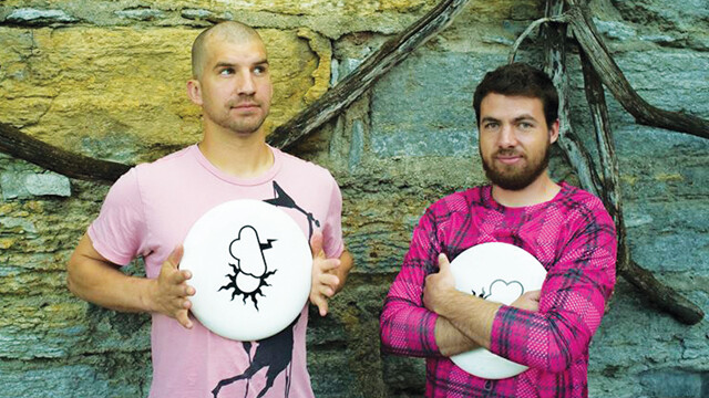BREAK IT DOWN FOR ME, FELLAS. Ultimate Frisbee afficionados Chris Schasse, left, and James Wagner are the creative team behind The Break Side, a web series about their favorite sport.