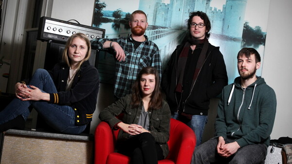 Adelyn Rose is multi-instrumentalist Hannah Hebl, drummer Dave Power, vocalist/guitarist Addie Strei, guitarist/engineer Jaime Hansen, and bassist Leo Strei.