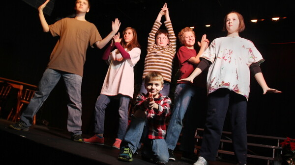 THEY'RE NO ANGELS. The troublesome Herdman children cause chaos in the Chippewa Valley Theatre Guild's The Best Christmas Pageant Ever.