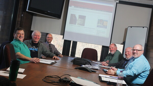HEART OF THE POST. The Chippewa Valley Post, a local news website, (softly) re-launched on February 2. Above: the site's main editorial staff.