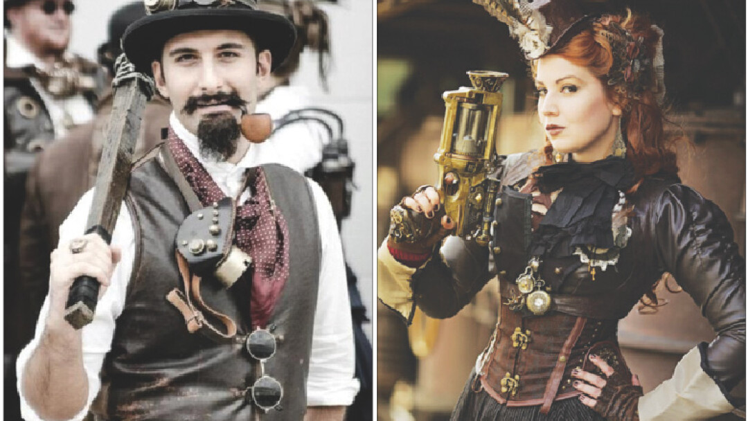 FEELING STEAMY, PUNK? Above: Some great examples of steampunk style you might see at the LogJam.