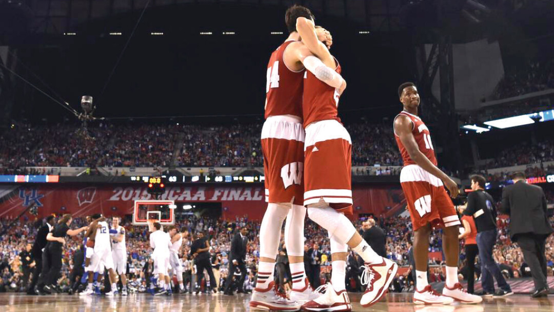The Wisconsin Badgers were left to console each other after losing to Duke in the NCAA title game April 6.
