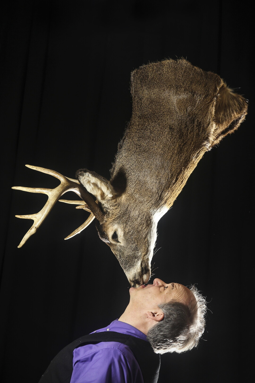 JUST KISS ME, DEER. Stores from Steve Russell's 35-year career as a traveling comedic entertainer provided plenty of material for his new one-man stage show, The Casual Suspect.
