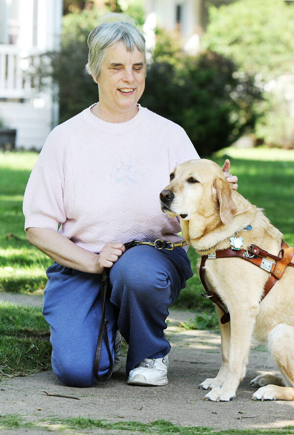 Katherine Schneider and her Seeing Eye dog, Luna, live in Eau Claire.