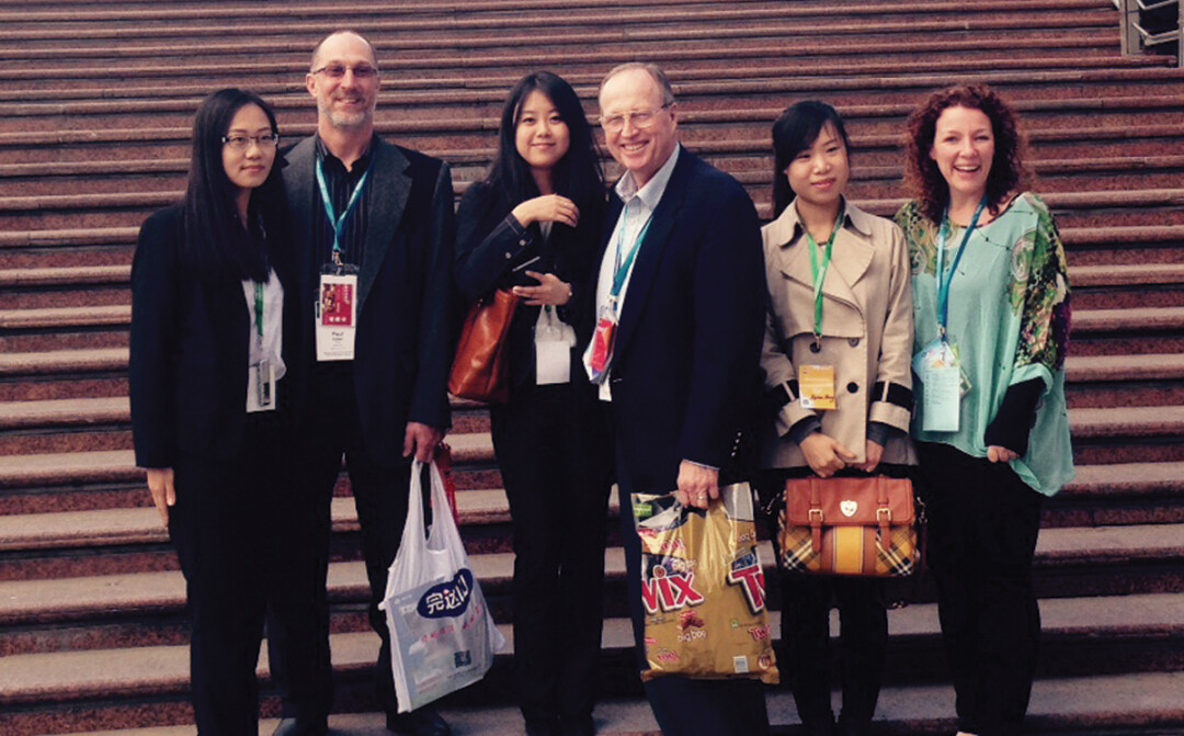 Marieke Peterman, far right, took part in a Wisconsin trade mission to China in April.