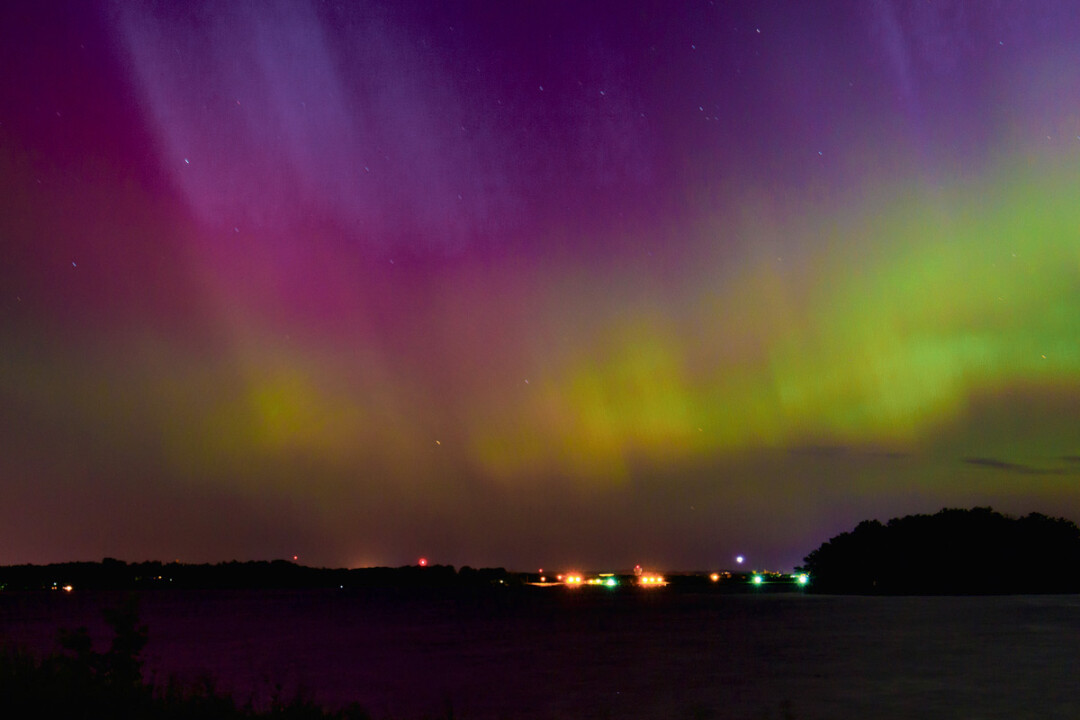 The northern lights – a.k.a. the aurora borealis – were visible over Lake Wissota late one June night.