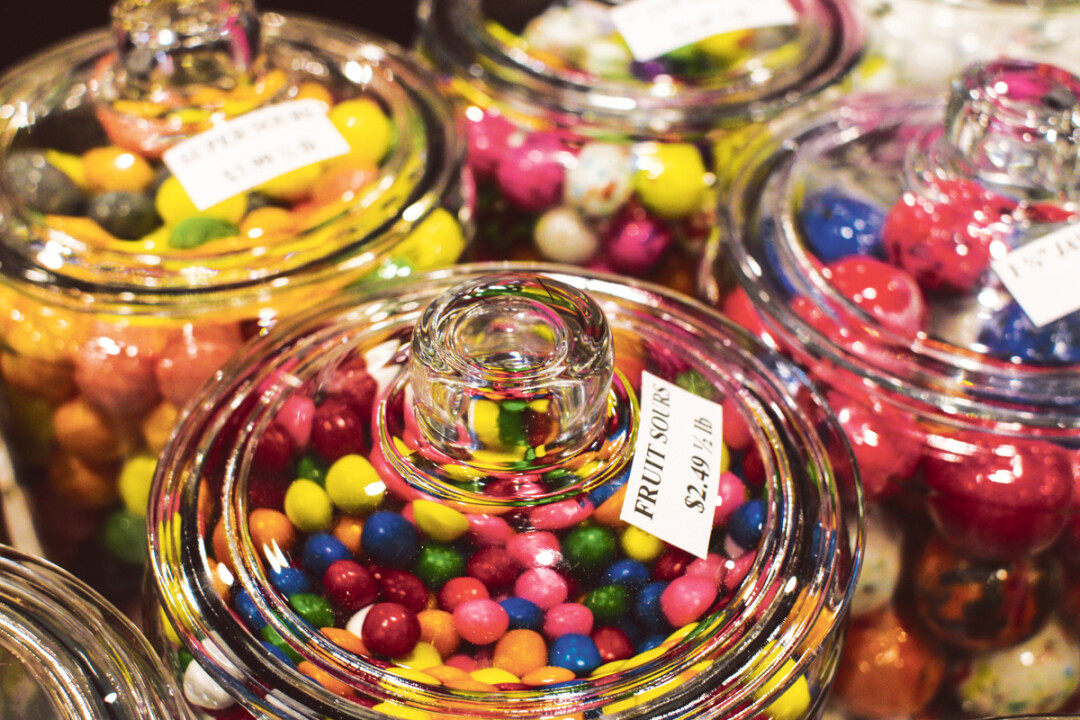 SWEETS AND TREATS GALORE. The brand new Chippewa Candy Shop has rows and rows (and more rows) of jars containing all the candy your sweet tooth could ever dream of – if teeth could dream, of course.