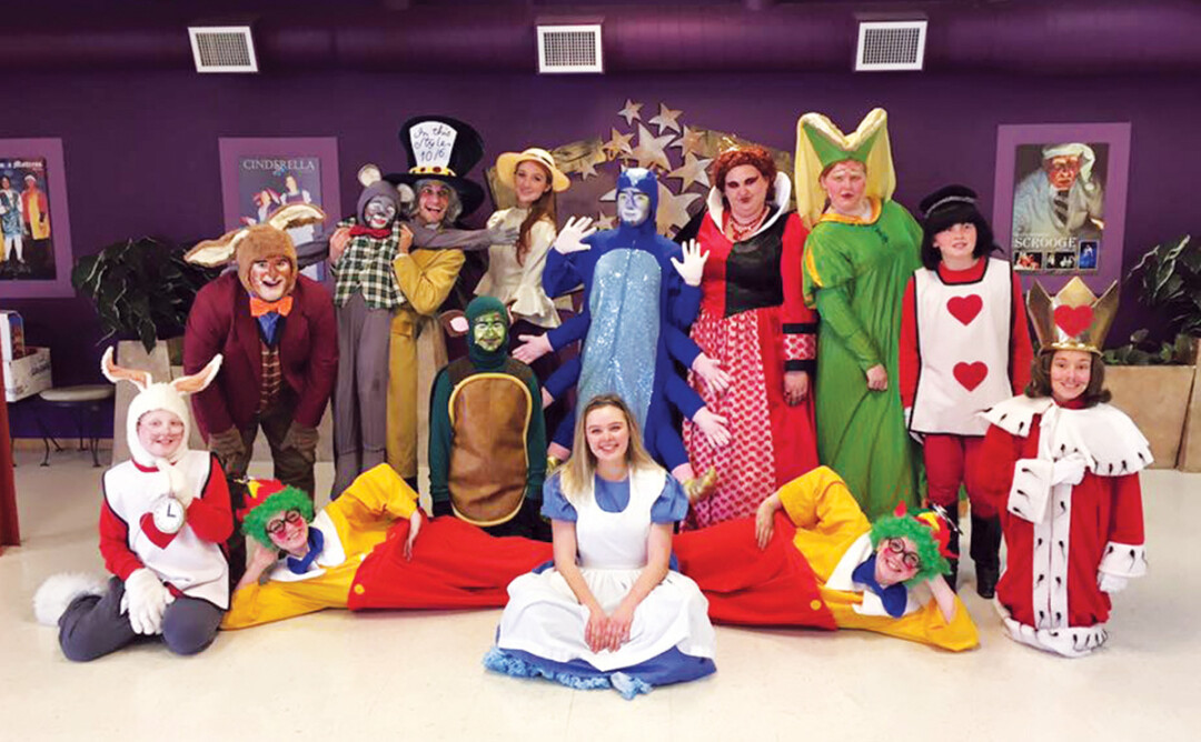 The cast of the ECCT production of Alice in Wonderland.