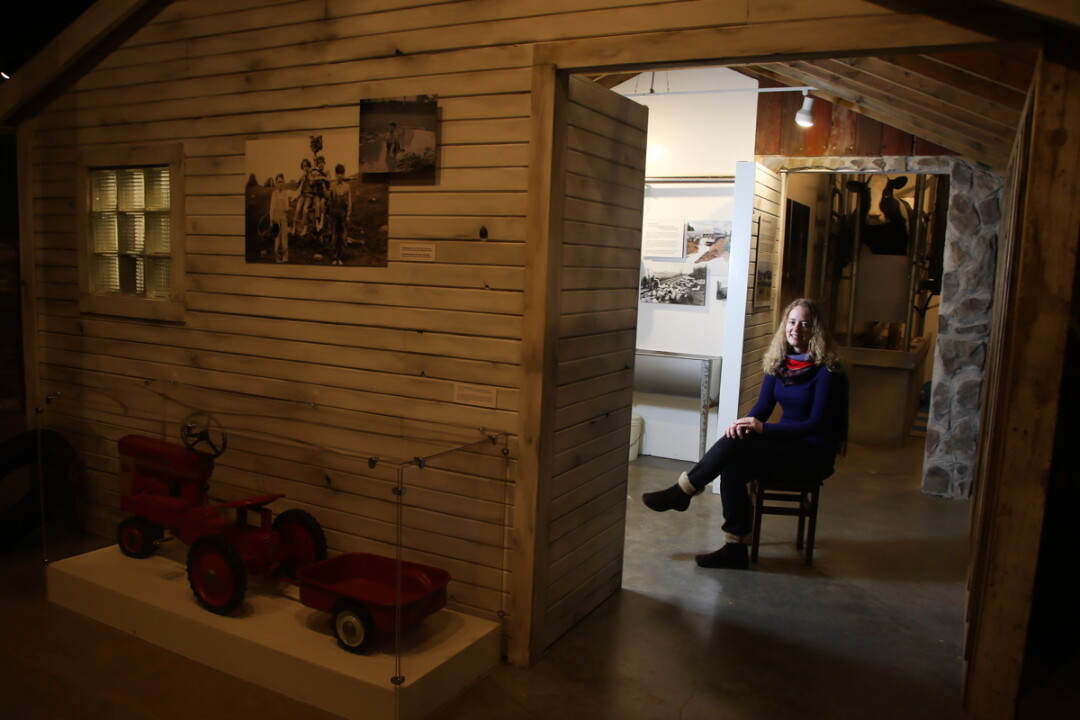 BEHIND THE SCENES. Eau Claire writer Emily Anderson at the Chippewa Valley Museum, where she used to hang out as a child, acquiring inspiration.