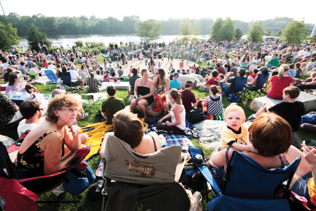 The Sounds Like Summer Concert Series in downtown Eau Claire's Phoenix Park sees weekly crowds of 2,000 music fans enjoying all-local acts.