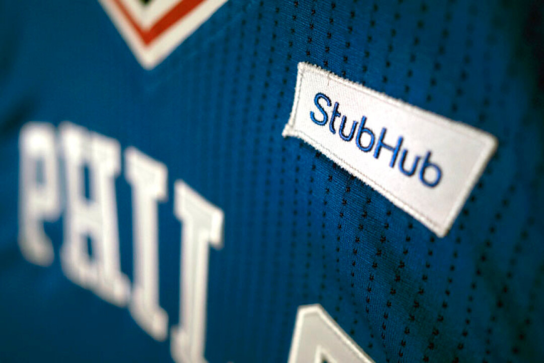 The Philadelphia 76ers have already struck a deal for uniform advertising with ticket website StubHub.