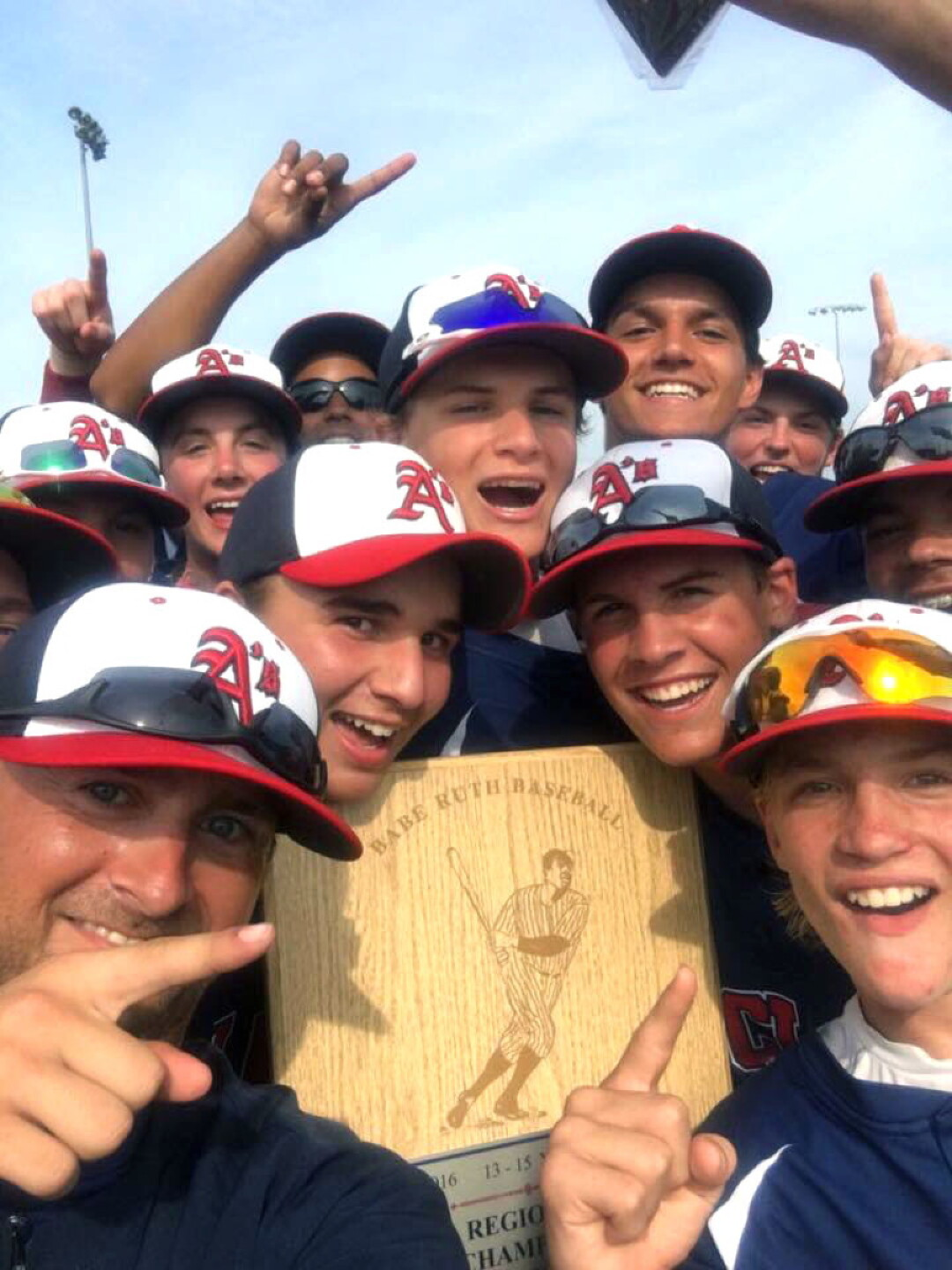 The Eau Claire Babe Ruth 15-and-under team celebrated its Regional title in July. The Eau Claire 13U team also won its regional tournament, and both teams are headed to their respective World Series.