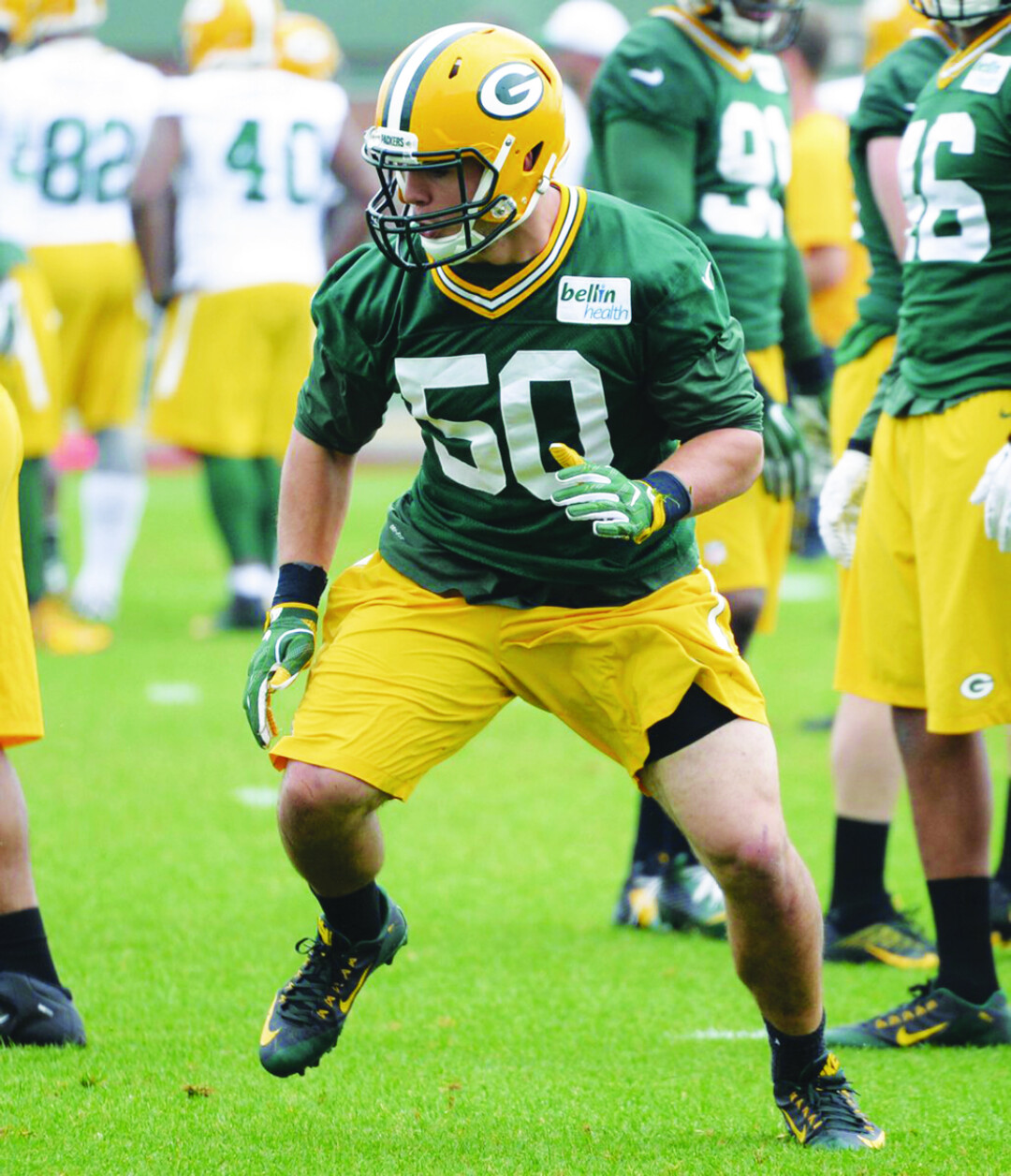 Keep an eye on Packers rookie linebacker Blake Martinez, as he has the skills and talent to have a breakout first year.