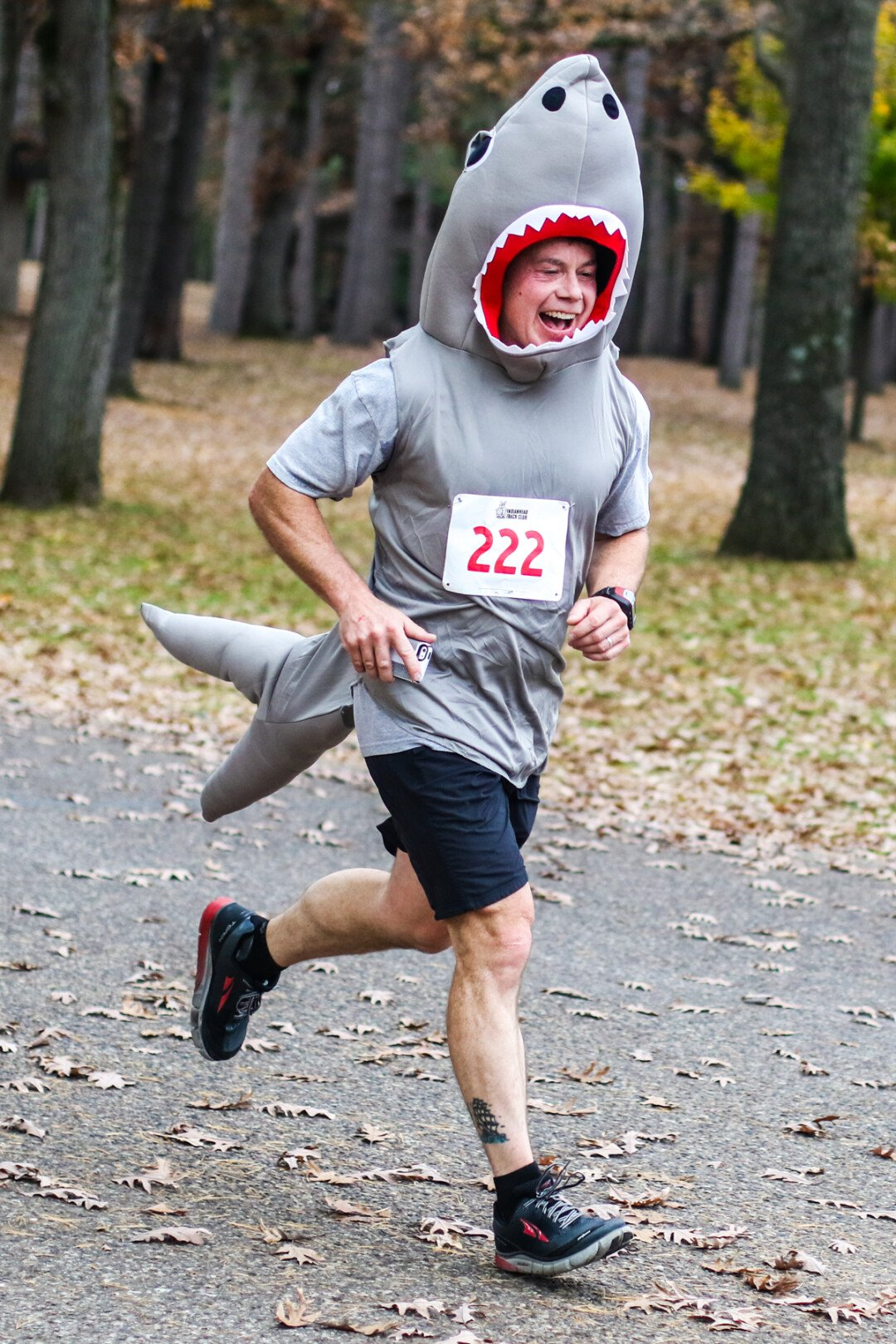 BET HE'S EVEN FASTER IN THE WATER. The Carson Park Five and Ten + Kid's BOO-gie Run took place on Saturday, Oct. 29, in Eau Claire where kids and adults ran in costume.