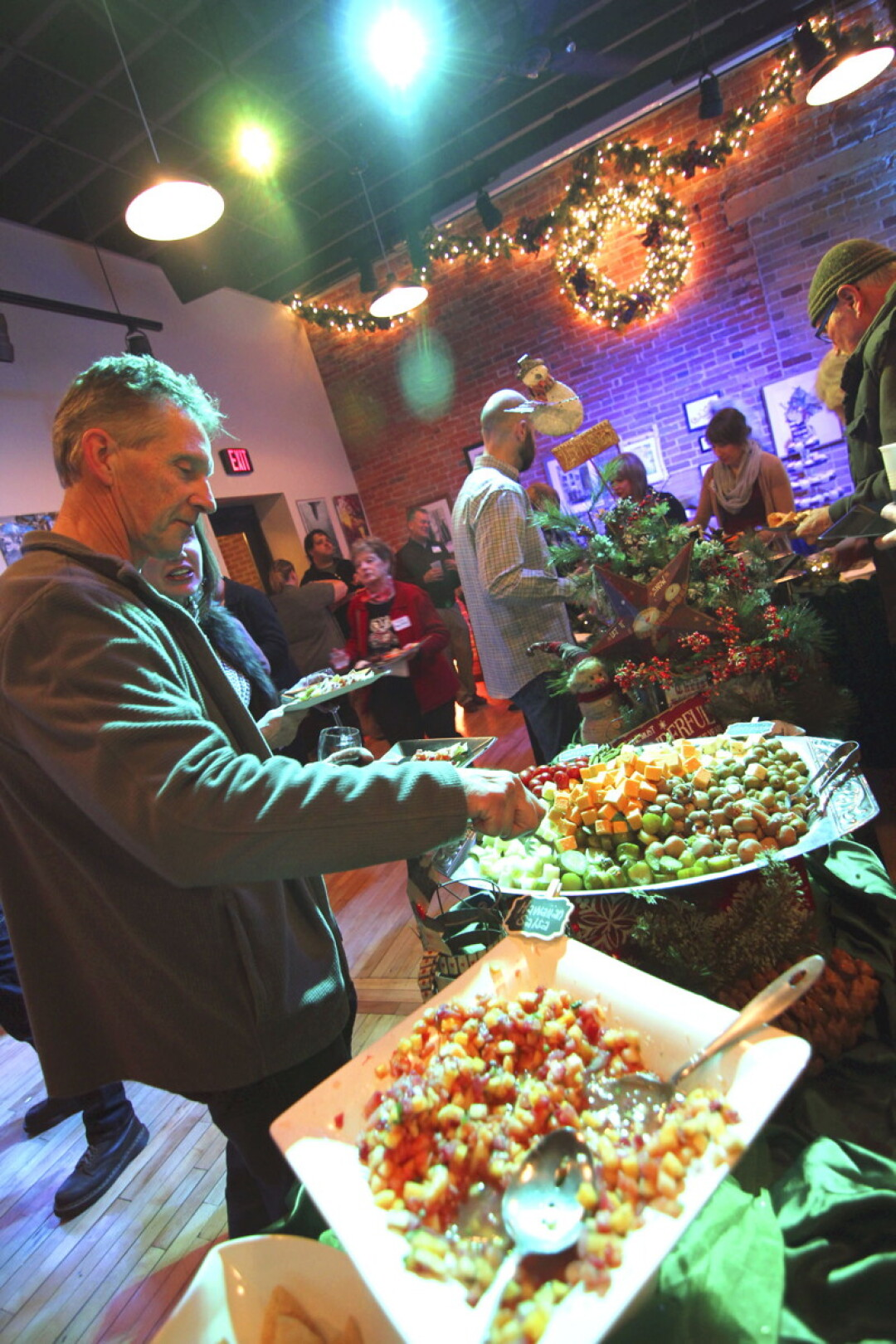 Holiday party catered by KP Katering.