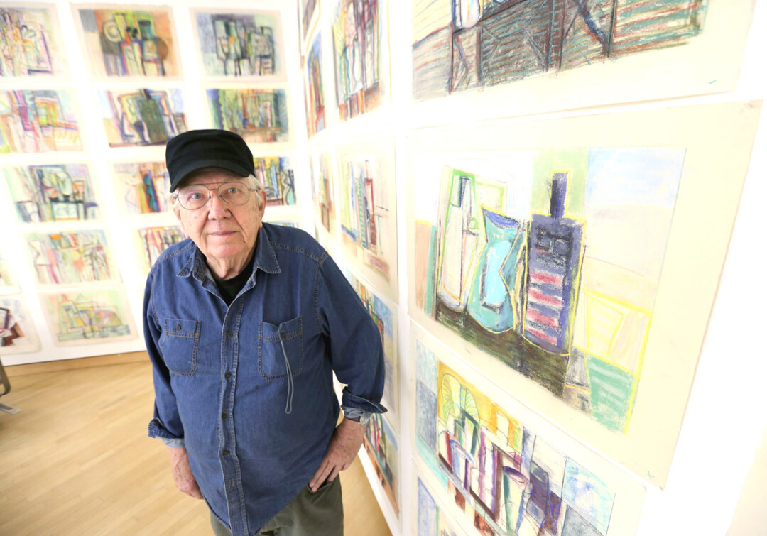 Charlie Wimmer at UW-Stout's Furlong Gallery. Image: UW-Stout Photo