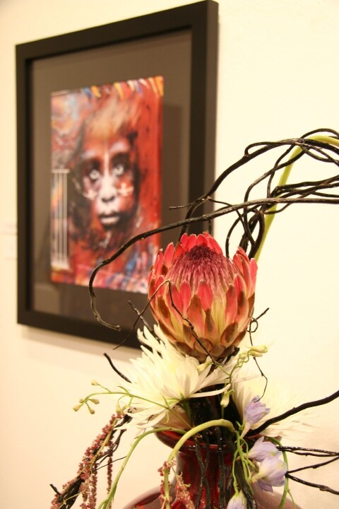 Artwork and flowers from the 2014 event.