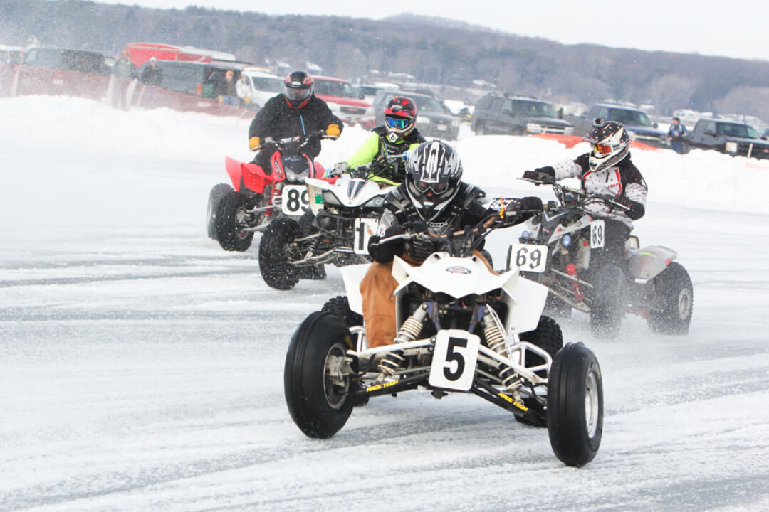 Ice racing at the 2015 Winter Fest.