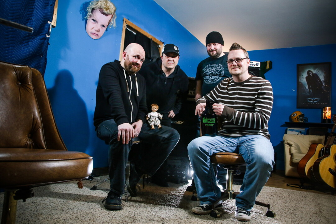 IF IT AIN'T BROKE … Veteran Chippewa Valley singer/songwriter Brian Bethke (far right) made a name for himself as a solo artist. His new band, The Broken Eights, have just released an 8-song album of grungy rock.