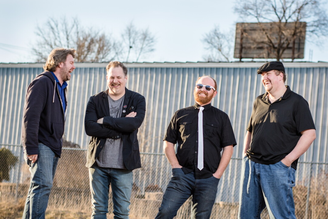 FMDown is (left to right) Joe Gunderson (drums), Greg Kernkamp (bass, vocals), Will Wall (vocals, guitar), and Andrew Liss (vocals, keyboard). The band's new EP, Select All Delete, is set to release April 7.
