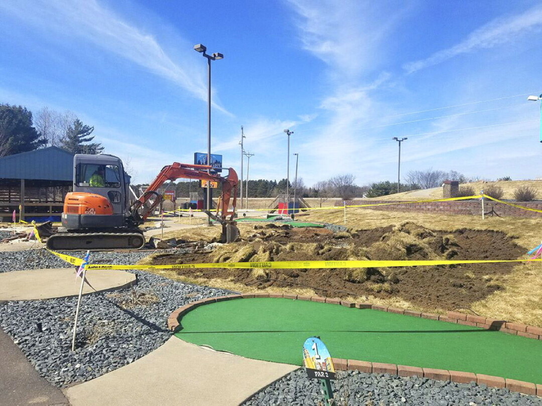 FUN CONSTRUCTION. In May, Eau Claire's Action City will open a bunch of new attractions, including a 730 foot long motorized zip-line, which can send two people flying through the air at 35 miles per hour from a height of 130 feet.