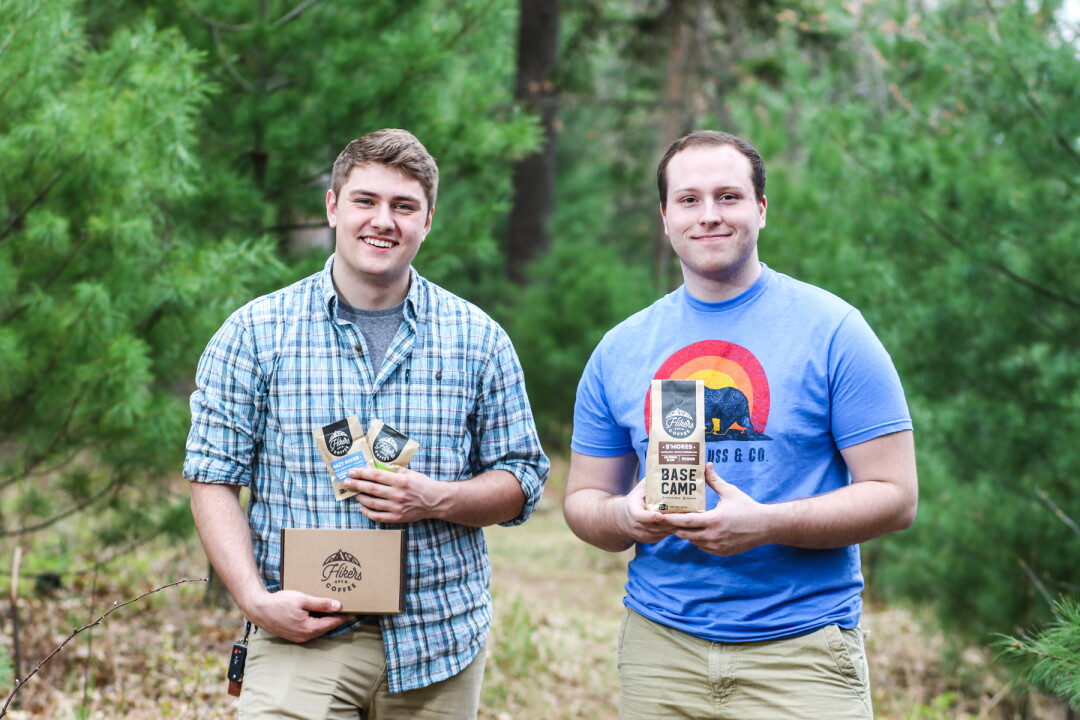 LACE UP YOUR BOOTS FOR A JAVA-FUELED ADVENTURE. Bob Christopher, left, and Zach Pecha are the creators of Hikers Brew Coffee, a line of gourmet coffees with lightweight, earth-friendly packaging.