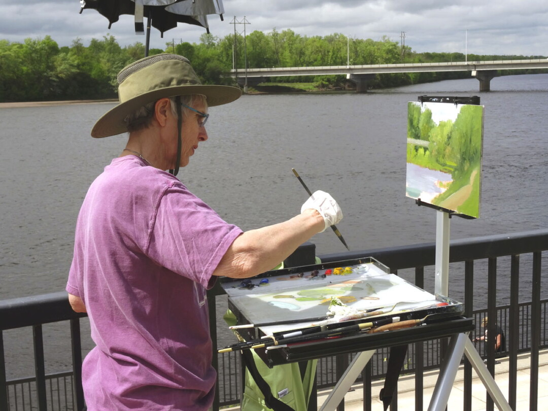 AIR BRUSHING. A participant in a previous year's GO Paint! plein air event captured the scenery along the Chippewa River near Durand. This year's event encompasses more of the Chippewa Valley.