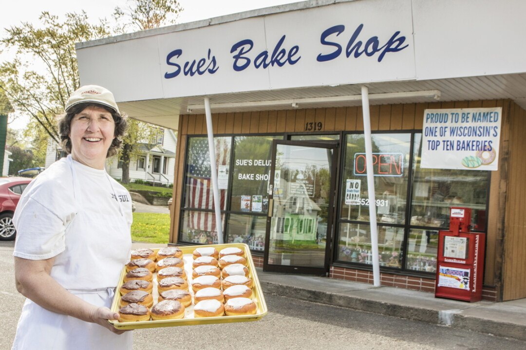 ANONE FEEL LIKE TAKIN' TO BAKIN'? Sue Ranney has whipped up tasty treats at Sue's Bake Shop for almost 20 years, but is now looking for a new owner to step in.