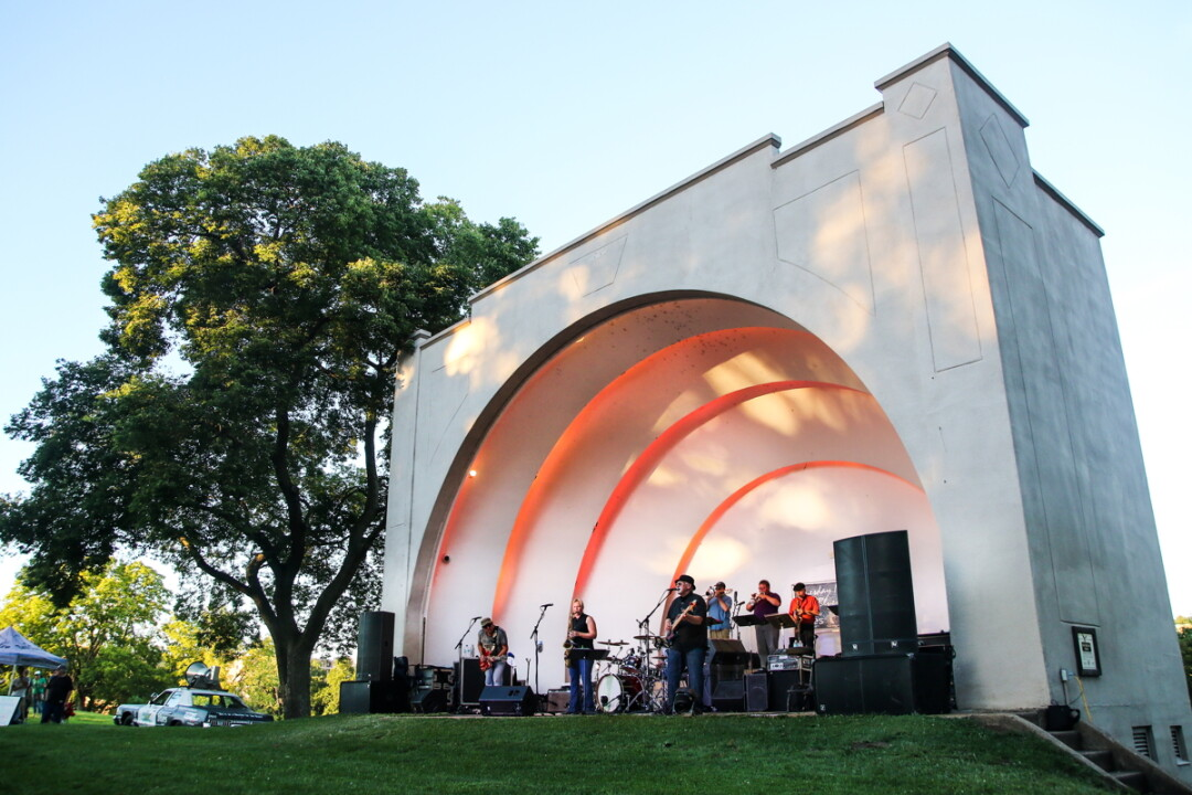 IT SHELLS ITSELF. Tuesday Night Blues happens at Owen Park's bandshell every Tuesday throughout the summer.