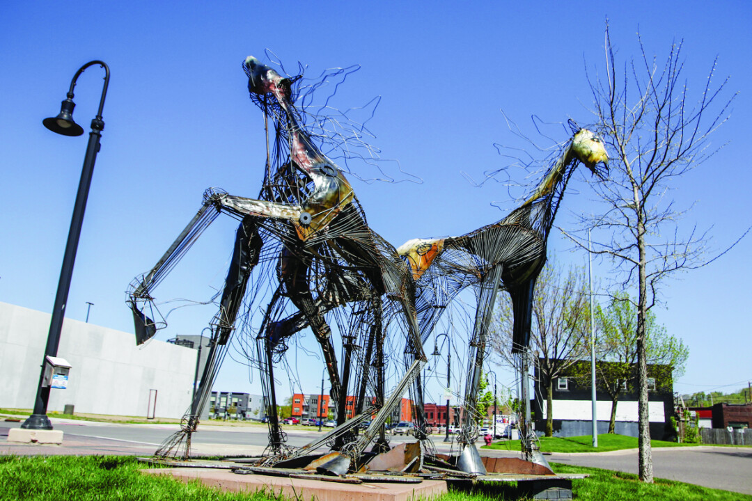 Tres Caballos by local artist Terry Meyer