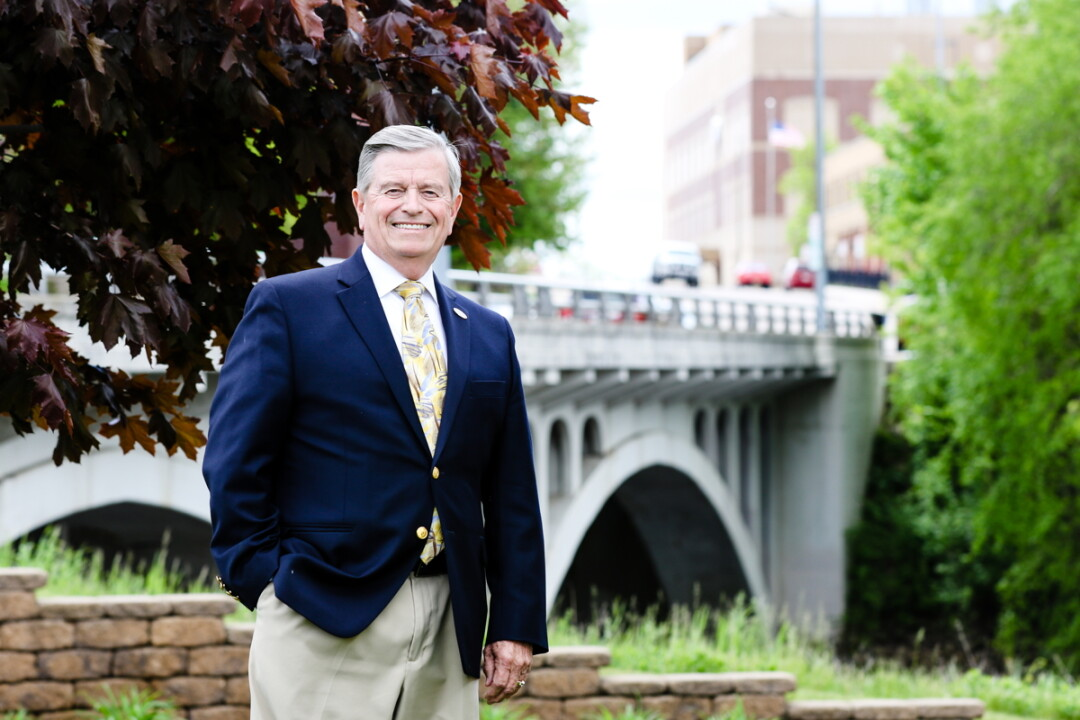 BUILDING BRIDGES. Bob McCoy spent 23 years as president and CEO of the Eau Claire Area Chamber of Commerce. He retires from the post on June 2.