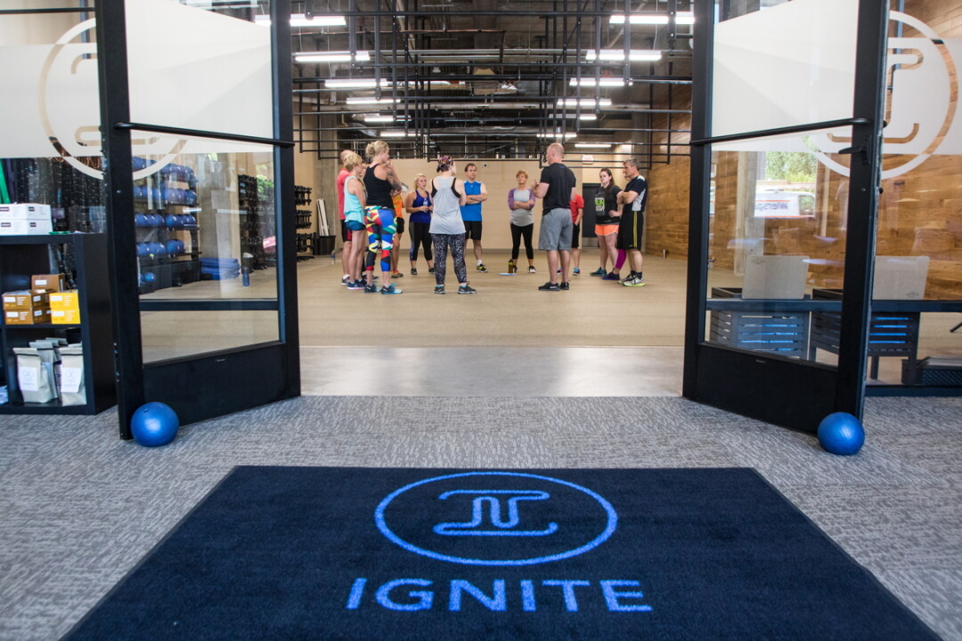IGNITE, A NEW EXERCISE FACILITY OPENED IN DOWNTOWN EAU CLAIRE'S HAYMARKET LANDING BY THE OWNERS OF FITELITE, OFFERS HOUR-LONG FUNCTIONAL FITNESS WORKOUTS THAT USE MINIMAL EQUIPMENT.