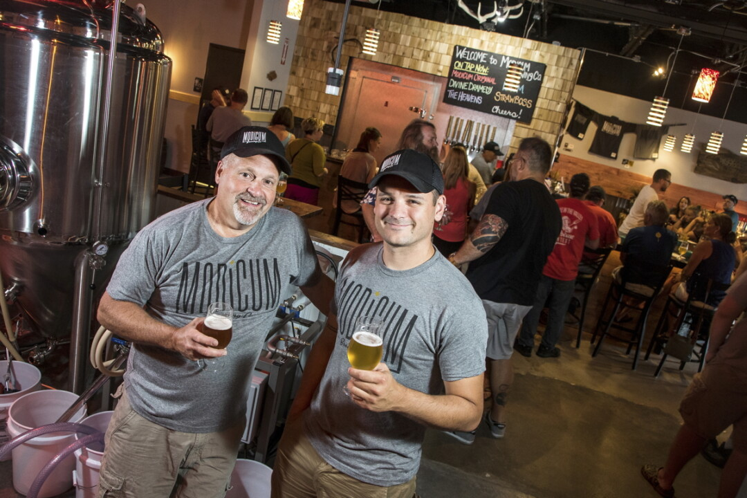 The Chippewa Valley's newest craft brewery and taproom opened Friday, July 7. Modicum Brewing, headed up by Mike Blodgett and brewmaster Eric Rykal (above), is nestled into the west side of Altoona (3732 Spooner Ave. Suite A).