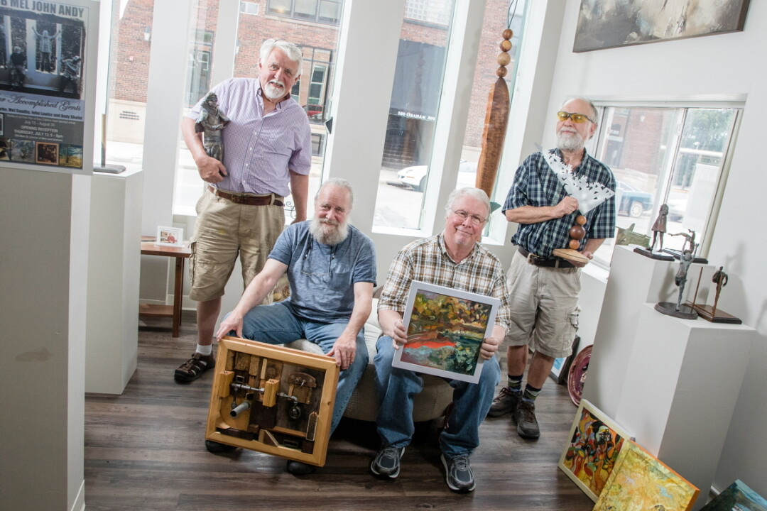 "At first glance, the poster – which shows four gray-haired men hamming it up under the bold headline ""BOB MEL JOHN ANDY"" – could easily be mistaken for an ad for a musical reunion tour, perhaps portraying a '60s-era quartet hitting the road again with their old tunes."