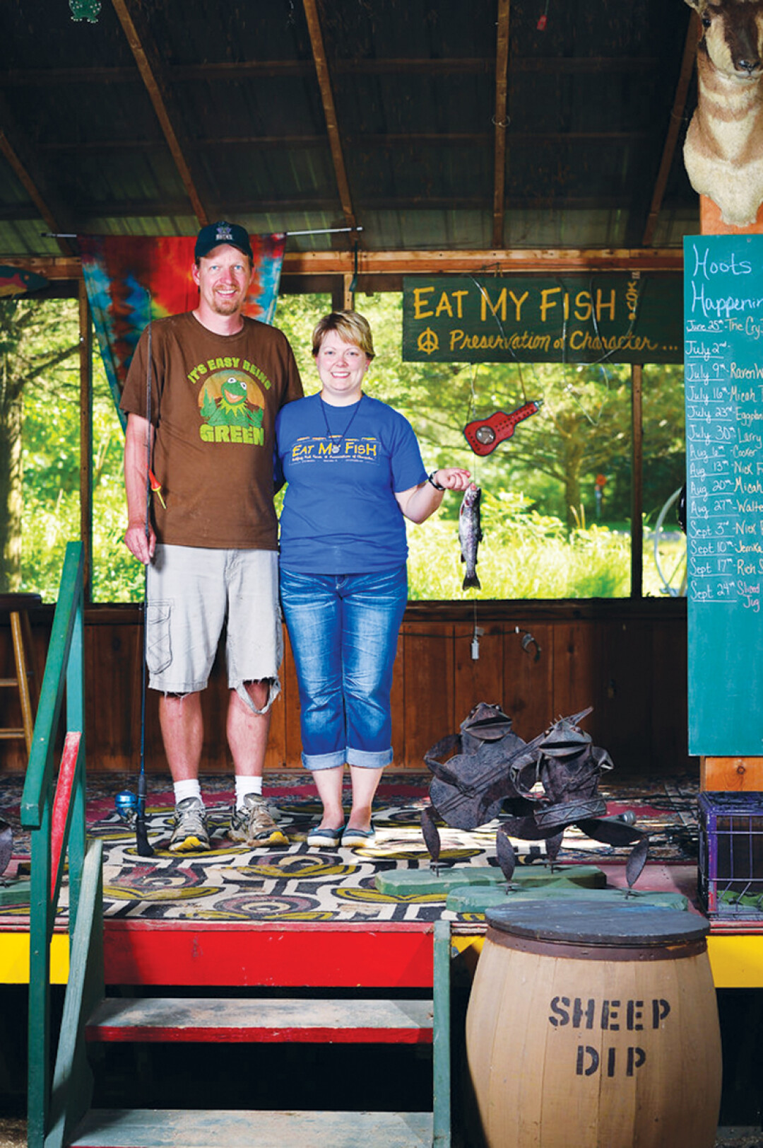 Jeremiah's Bullfrog Fish Farm co-owners Jeremiah and Jordan Fredrickson will carry on the Bullfrog legacy from former owner and founder Herby Radmann.