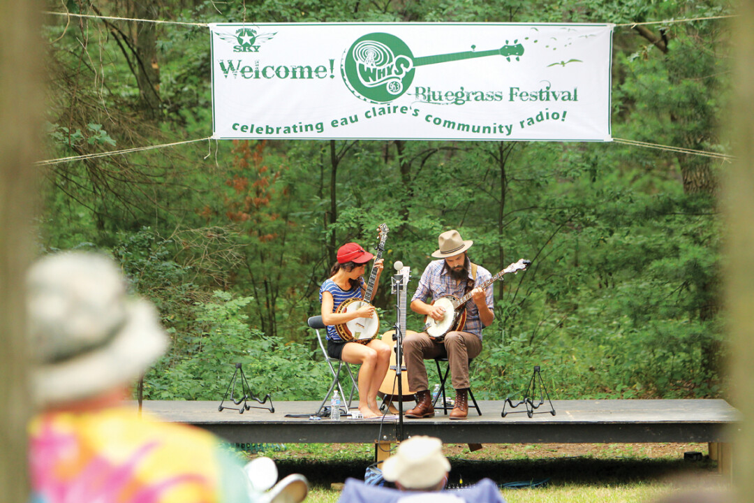 A GREEN SPACE FOR BLUEGRASS. Returning to Altoona Country Park this month, WHYS Radio's annual Bluegrass Festival is a low key celebration of music, food, and more. Above: The Lowest Pair. Right: Nick Seeger.