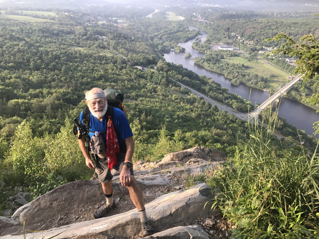 A WALK ABOVE THE WOODS. If all goes as planned, Ron Buckley of Eau Claire will complete his 2,200-mile hike of the Appalachian Trail in October.