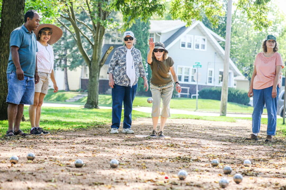 HAVE A BALL! French national and Eau Claire resident Anne-Marie Bittner started the local pétanque revolution in Eau Claire's Wilson Park.