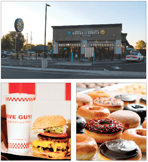 Caribou Coffee & Einstein Bagels, 807 W. Clairemont Ave. / Five Guys, coming soon to Oakwood Mall / Dunkin' Donuts, soon opening a second Eau Claire shop
