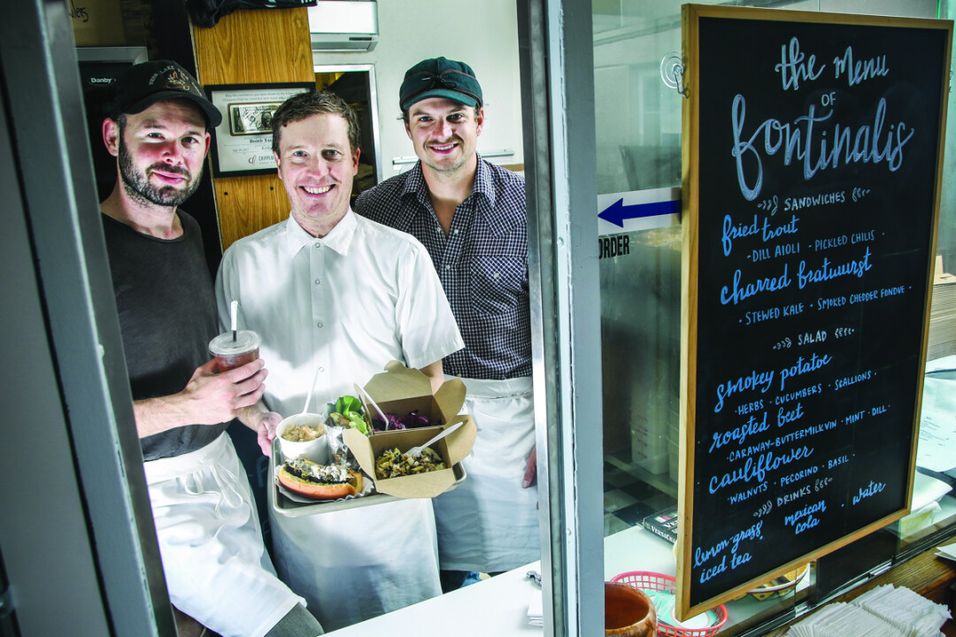 GOOD EATS. Fishing buddies Ben Lester, Brendan McHale, and Weston Thier form Fontinalis, a pop up restaurant taking over Bomb Tacos in Chippewa Falls on select dates.