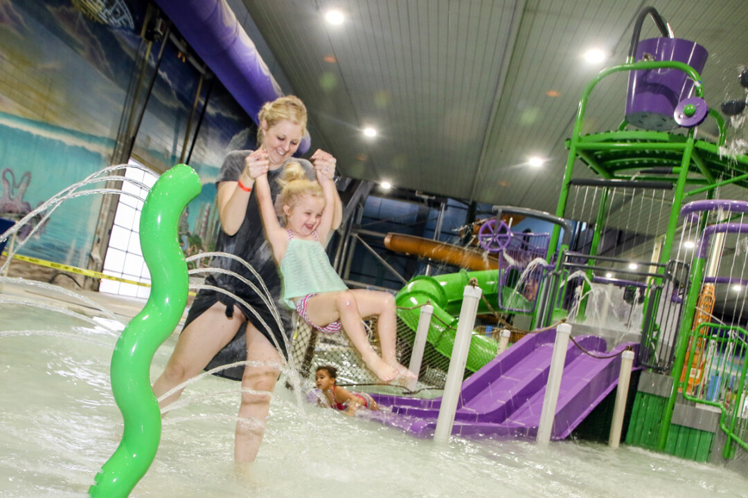 HAVE A BASH WHILE YOU SPLASH. New additions to Eau Claire's Chaos Water Park will include interactive slides, dump buckets, spray and squirt guns, and more.
